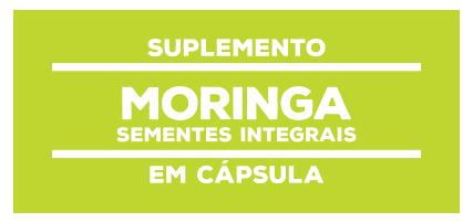 Suplemento Natural Moringa Sementes Integrais Cápsula